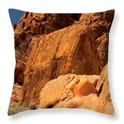 Gambels Quail In Profile Valley Of Fire Throw Pillow