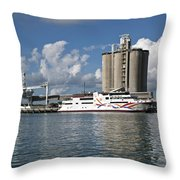 Gambling Ship Liquid Vegas In Florida Throw Pillow