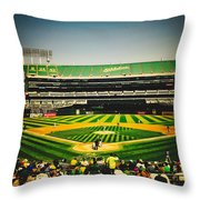 Game Day In Oakland Throw Pillow