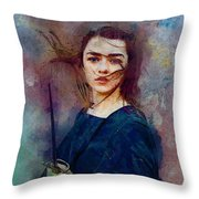 Game Of Thrones. Arya Stark. Throw Pillow