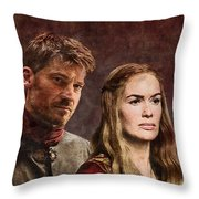 Game Of Thrones. Cersei And Jaime. Throw Pillow