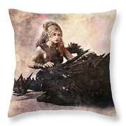 Game Of Thrones. Daenerys. Mother Of The Dragons. Throw Pillow