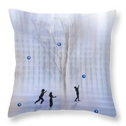 Game With Ball Throw Pillow