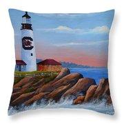 Gamecock Lighthouse Throw Pillow