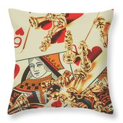 Games Of Love Throw Pillow