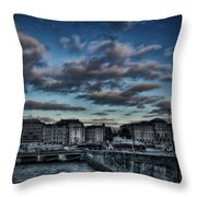 Stockholm In Dark Throw Pillow
