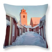 Gammelstad Lulea - Sweden Throw Pillow