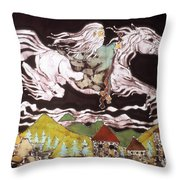 Gandalf And Shadowfax Throw Pillow