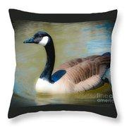 Gander At A Goose Throw Pillow