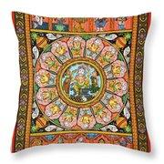 Ganesha 4 Throw Pillow
