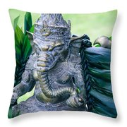 Ganesha Ganesa Ganapati Vinayaka Pillaiyar Hindu Pantheon Throw Pillow