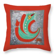 Ganesha Symbolic Throw Pillow