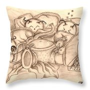 Ganesha's Day Off Throw Pillow