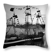 Gang Of Pirates Throw Pillow