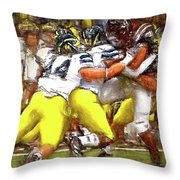 Gang Of Wolverines Throw Pillow