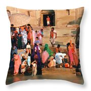 Ganges Throw Pillow