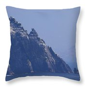 Gannets Fly Around Little Skellig, County Kerry, Ireland Throw Pillow