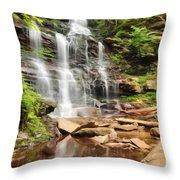 Ganoga Falls Ricketts Glen Throw Pillow