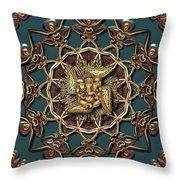 Ganpati Mandala  Throw Pillow