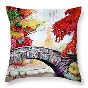 Gapstow Bridge I Throw Pillow