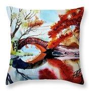 Gapstow Bridge II Throw Pillow