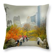 Gapstow Crossing Throw Pillow