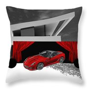 Garage Throw Pillow