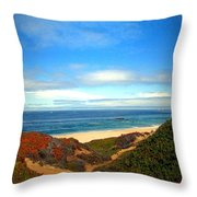 Garapata State Park South Of Monterey Ca Seven Throw Pillow