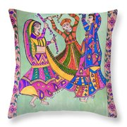 Garba Dance Throw Pillow