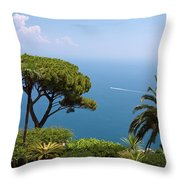 Garden And Bay Of Naples Throw Pillow
