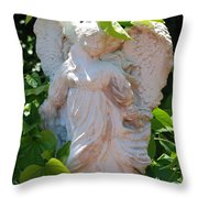 Garden Angel Throw Pillow