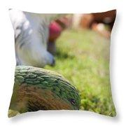 Garden Animals Throw Pillow