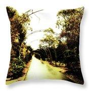 Garden Arches Of Gold Throw Pillow