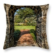 Garden Archway Throw Pillow
