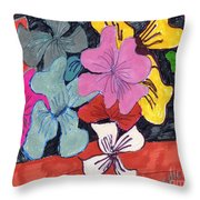 Garden Arrangement Throw Pillow