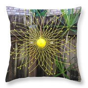 Yellow Sunflower Garden Art Throw Pillow