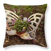 Garden Art Throw Pillow