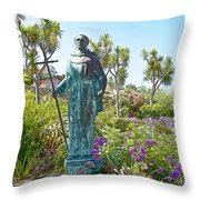 Garden At Carmel Mission-california Throw Pillow