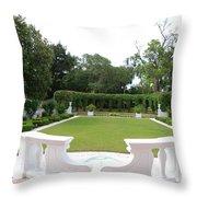 Garden At Crane Cottage Throw Pillow