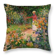 Garden At Giverny Throw Pillow
