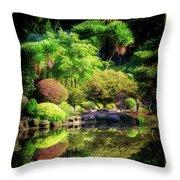 Garden At Shores Acres Throw Pillow