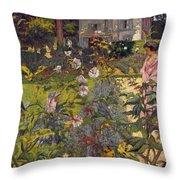 Garden At Vaucresson Throw Pillow