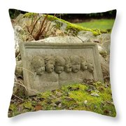 Garden Babies II Throw Pillow
