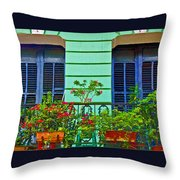 Garden Balcony Throw Pillow