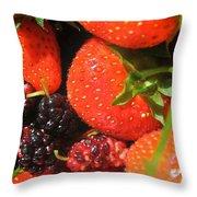 Garden Berries Throw Pillow