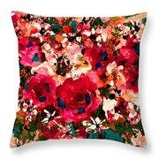 Garden Bouquet Throw Pillow