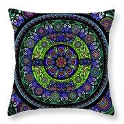 Garden Buddha Mandala Throw Pillow