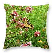 Garden Butterfly Throw Pillow