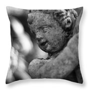 Garden Cherub Throw Pillow