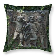 Garden Children Throw Pillow